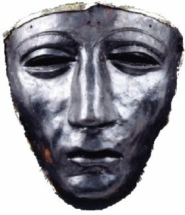 Roman officer mask from the year 9 AD found at Kalkriese, a remaining of the Varus-battle.