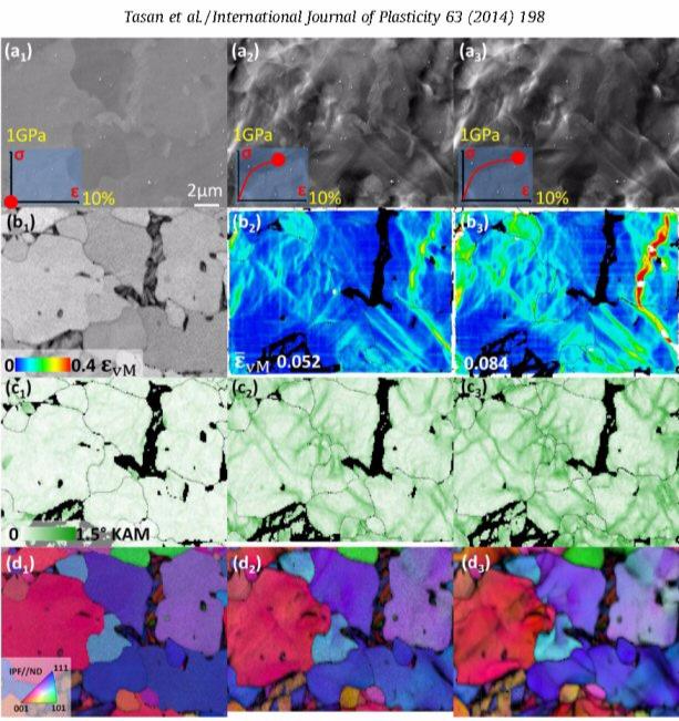 Grain scale digital image correlation; DUAL PHASE STEELS