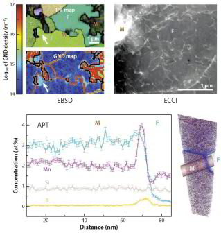 dual phase steel, martensite, atom probe tomography, DIC, strain, damage, overview, strain partitioning. Microstructures and Properties of Dual Phase Steels