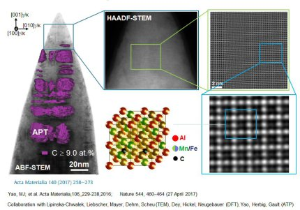 Combining high resolution scanning transmission electron microscopy with atom probe tomography, Acta Materialia 140 (2017) 258-273.